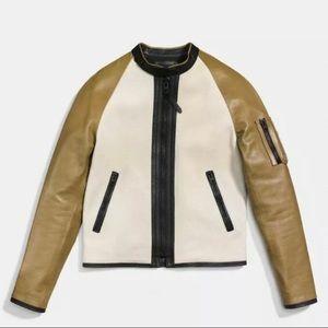 COACH Racy Zip Racer Jacket Mens Small